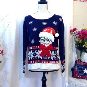 Santa Kitty Ugly Sweater